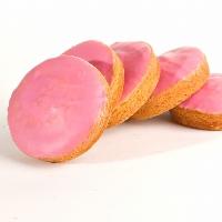"""Deze roze koeken zijn bekend als: """"roze koeken"""""""