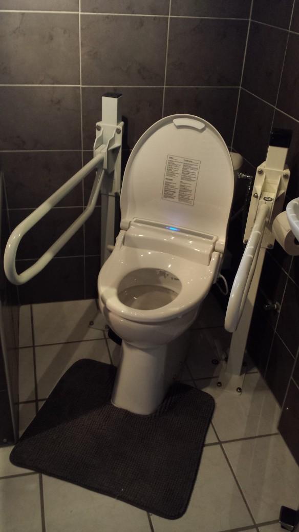Spoel-föhn installatie op het toilet met de intrigerende naam: ToiletSPA