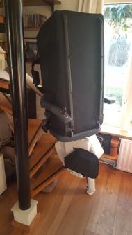 Thuis was die traplift wel erg handig...!!